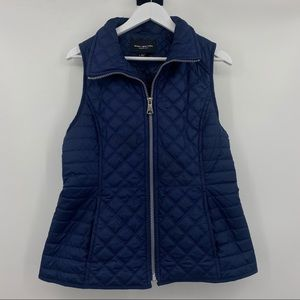Marc New York Women's Blue Quilted Zip Up Vest LG